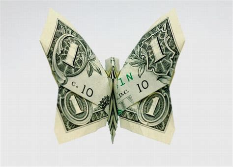 Origami Money Butterfly - stunning origami made using only money i like to waste