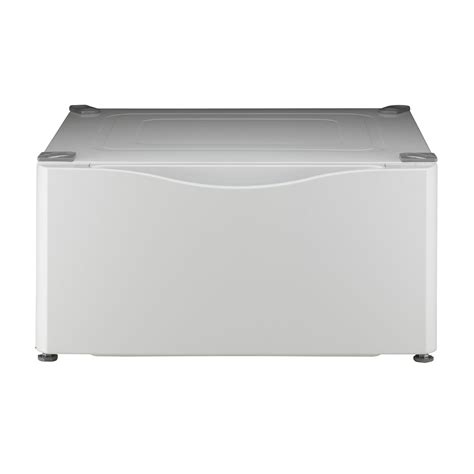 washer and dryer storage drawers kenmore 13 7 laundry pedestal w storage drawer white sears