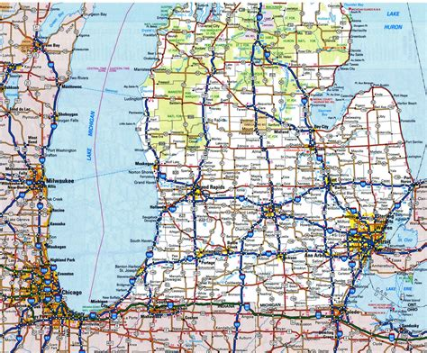 Of Michigan Search Road Atlas Of Michigan Search Engine At Search