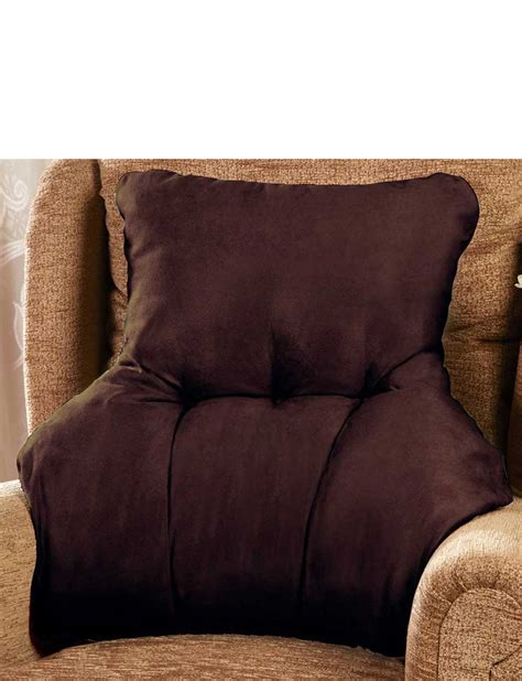 back support cushion for armchair faux suede back support chums