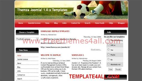free joomla templates themes free football soccer joomla template freethemes4all