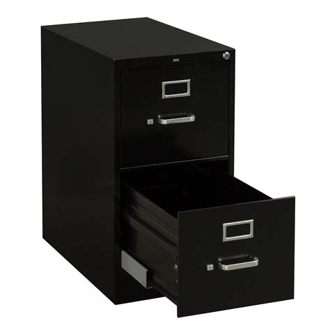 Hon Used Letter Sized 2 Drawer Vertical File Black Hon 2 Drawer Vertical File Cabinet