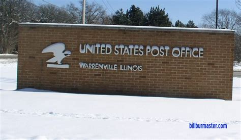 the sign at the warrenville post office february 2008