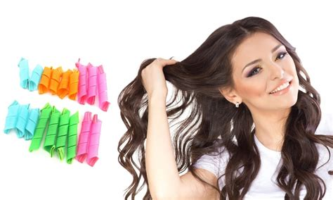 Hair Curlers by 60 On Instant Hair Curlers 18 Pc Groupon Goods