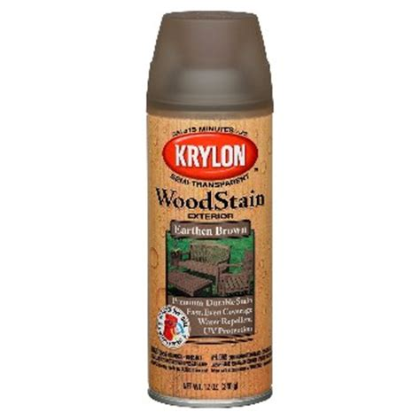 buy the krylon k003607000 exterior wood stain spray earthen brown 12 oz hardware world