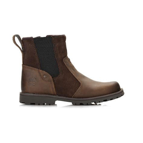 timberland chelsea boots timberland youth brown chelsea boots leather ankle