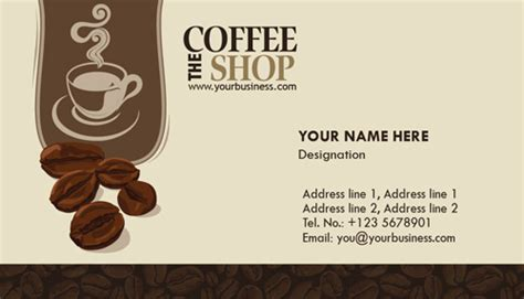 coffee shop business design photoshop coffee business cards design