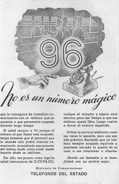 Publicidad Teléfonos del Estado (1949)