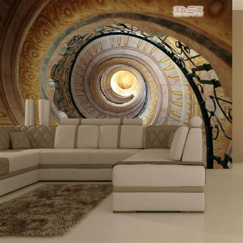 15 best 3d effect wallpaper designs visually enlarge room space optical illusion with 3d effect wallpaper for living room