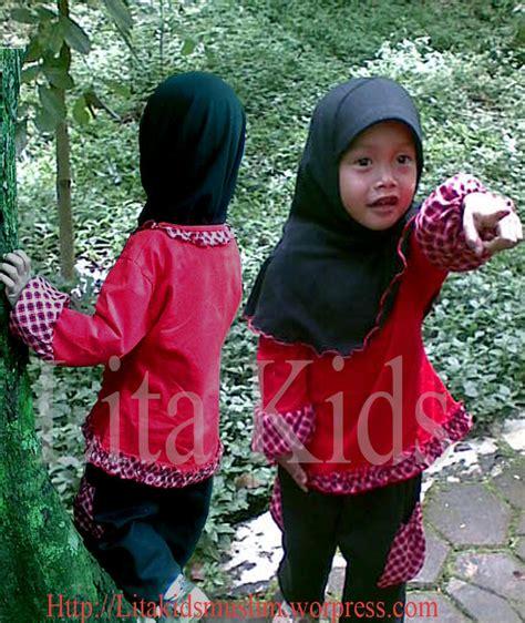 Tunik Katun Anak tunik kaos katun lita baju muslim anak seragam