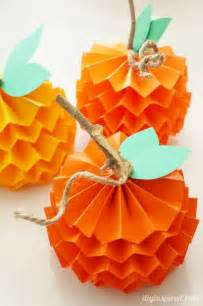 how to make paper pumpkins for fall craft for table