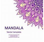 Mandala Floral Ornaments Template Vector 03