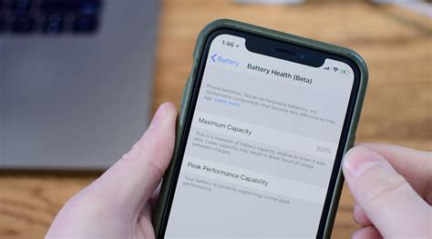 assess  iphone battery health  manage cpu