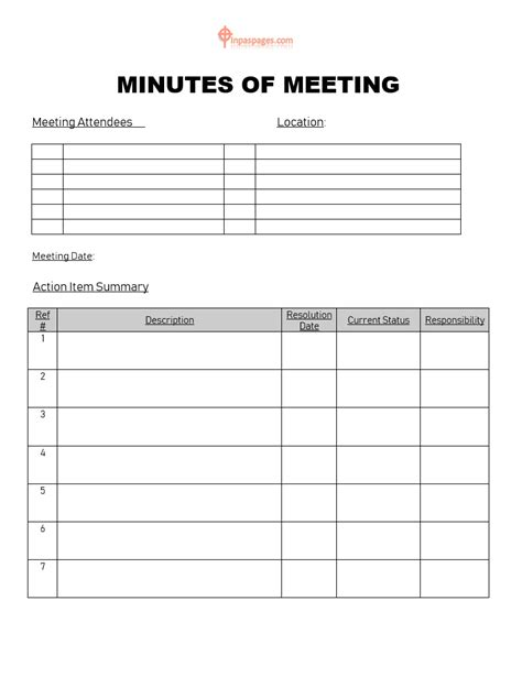 how to write a minute format save meeting minutes templates and