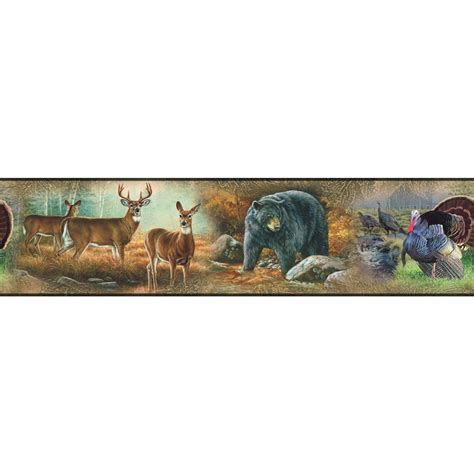 great outdoors wall border peel stick wallpaper wildlife