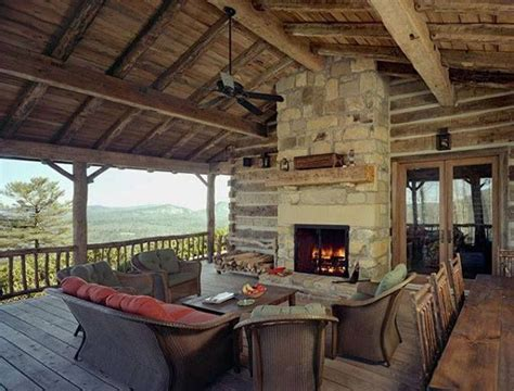 covered deck and outdoor fireplace h
