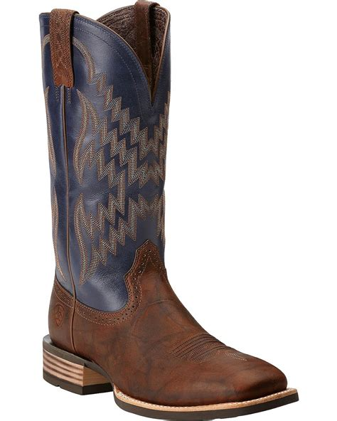 ariat square toe cowboy boots ariat tycoon cowboy boots square toe boot barn
