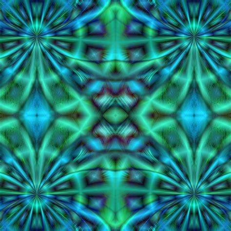 green kaleidoscope wallpaper blue green kaleidoscope free stock photo public domain