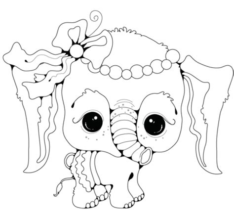 tumblr coloring pages elephants baby elefant pige tegninger