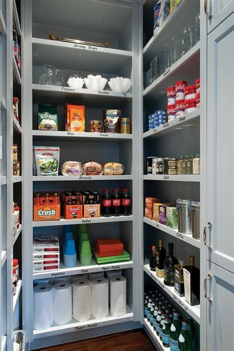 walk in pantry shelves walk in pantry with gray shelves transitional kitchen