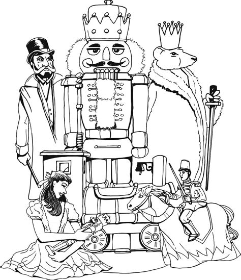 barbie nutcracker coloring pages free nutcracker and princess coloring pages