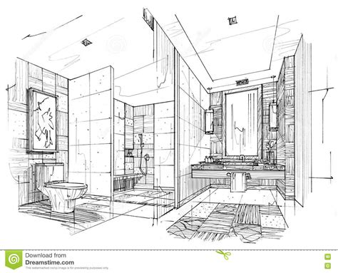 room sketch free sketch interior perspective toilet bathroom black and