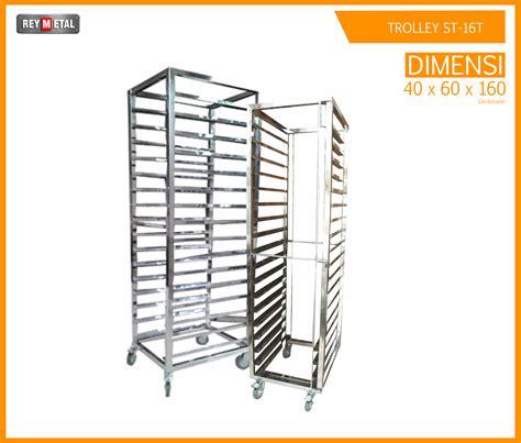 Rak Loyang Roti jual trolley stainless 16 rak