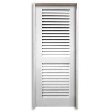 Prehung Louvered Interior Doors 36 Quot Pre Hung Interior Plantation Primed Louver Door Home Surplus