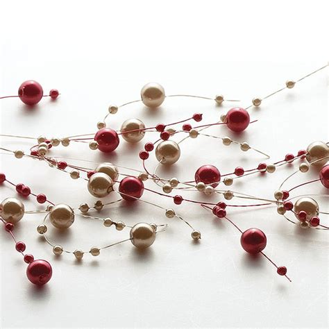 beaded garland pearl brown beaded garland decorative beaded candle