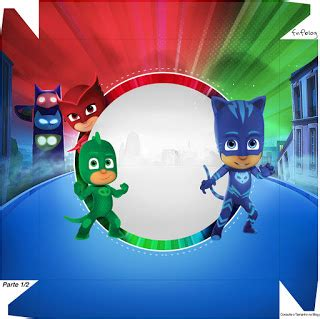 pj masks: free printable boxes. | oh my fiesta! in english