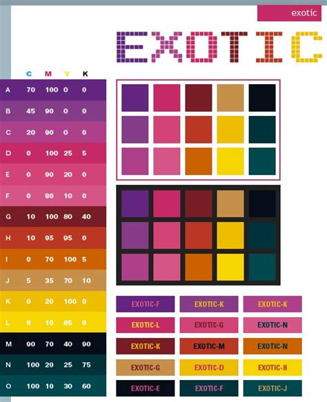 good colors color pallets exotic color schemes color combinations