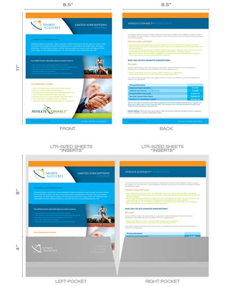inserts template brochure inserts design sles templates sizes layout