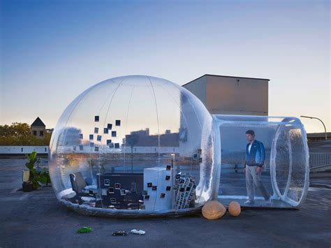 world of architecture now house from the notebook can be transparent mobile bathroom bubble