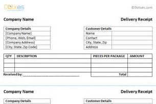 Delivery Slip Template by Receipt Templates Dotxes