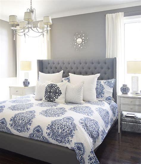 furniture bedrooms gray  blue master bedroom