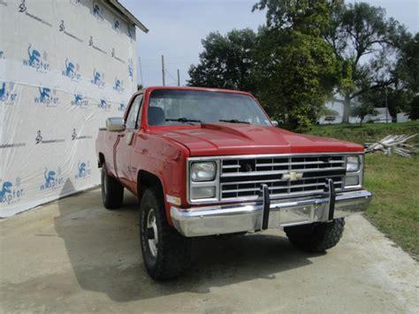 Wheels 62 Chevy Truck For Sale 1985 Chevrolet 3500 Single Wheel 6 2 Diesel 46k Orig