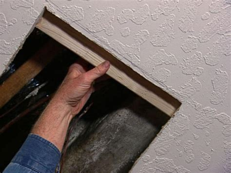 replacing a section of drywall how to replace insulation and patch drywall how tos diy