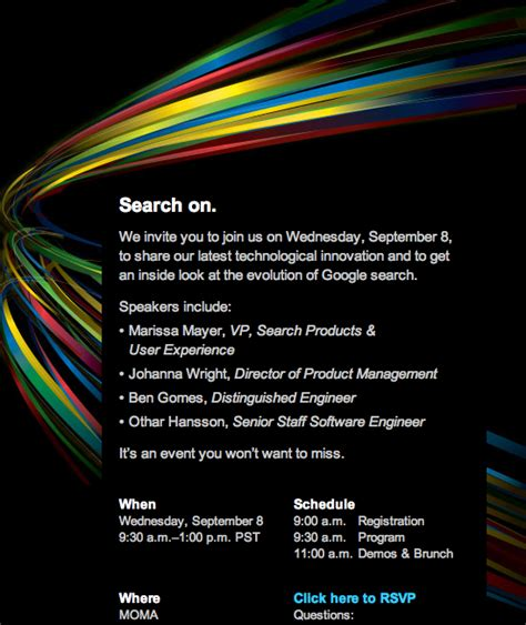 sle media invitation to event search event september 8th rainbow