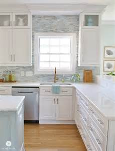 coastal kitchen ideas installing a paper faced mosaic tile backsplash