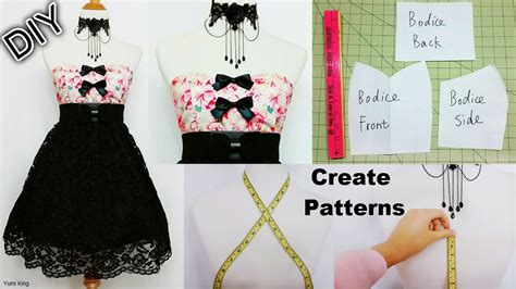 design and make your own dress how to create your own patterns to make dresses and