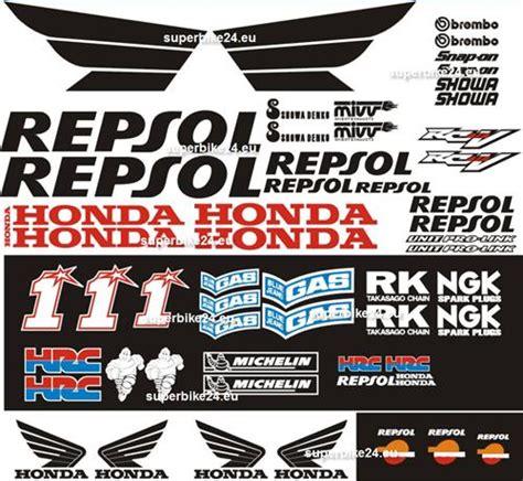 Sc59 Aufkleber Set by Honda Sc59 Pc40 Cbr Aufkleber Set Repsol