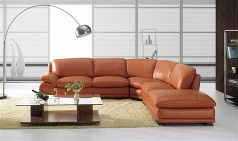 bo3920 modern camel leather sectional sofa burnt orange ebay