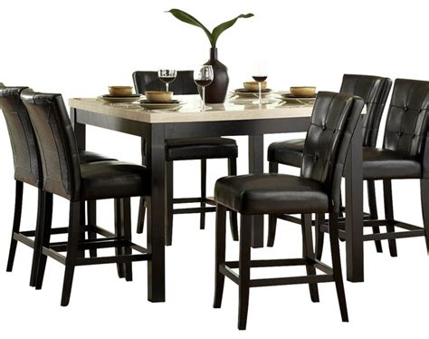 Pub Dining Room Sets Shop Houzz Homelegancela Inc Homelegance Archstone 7 Counter Height Dining Room Set