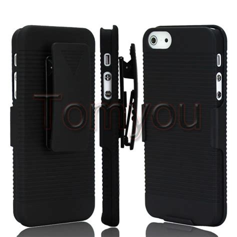 Stand Holster Belt Clip Iphone 5 5s Se Armor Future new black rotate stand holder belt clip holster skin cover for apple iphone 5 5s