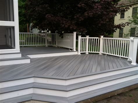 gray deck deck showcase lenzi construction remodeling deck talk