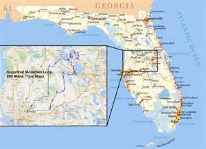 mountains in florida map versys ventures and more sugarloaf mountain loop