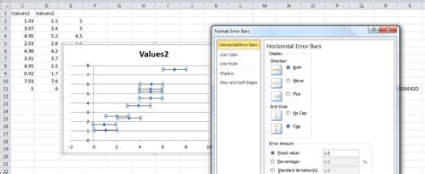 how to format a bar chart in excel 2010 custom error charts excel generate and format horizontal error bars