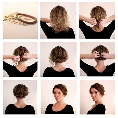 curly hair updos step by step bob and short hair hairstyles step by step on pinterest