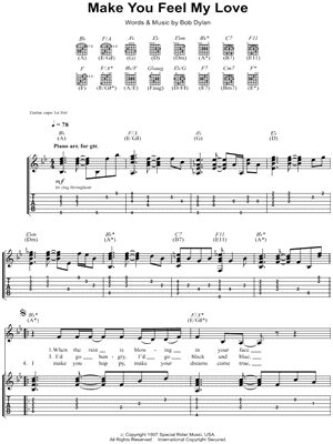 To Make You Feel My Love Guitar Chords
