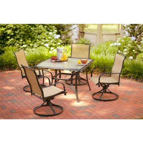 Hton Bay Altamira Diamond 5 Piece Patio Dining Set Patio Dining Sets Home Depot